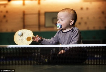 table tennis baby