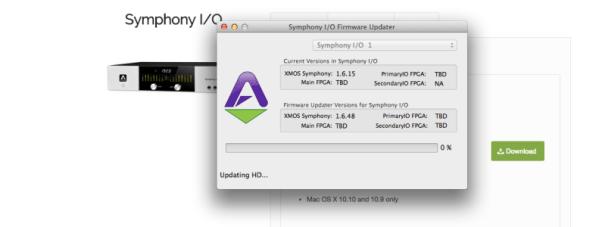 Symphony Update Screen Grab
