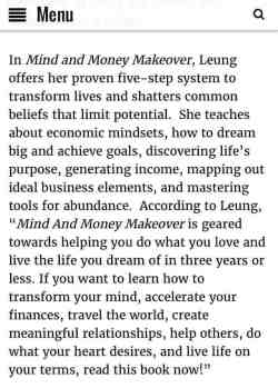 Millie Leung Mind and Money Makeover Book