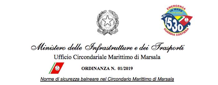 Ordinanza Kitesurf Stagnone 2019