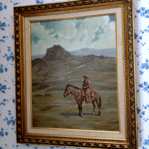Cowboy painting in the SK&H Prineville office.
