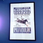 Poster for the Crooked River Roundup in the SK&H Prineville office.