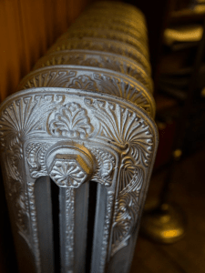 Close-up of radiator detail in the SK&H Vancouver office.