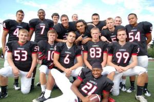 Photo of Lincoln Senior Football players in 2011.