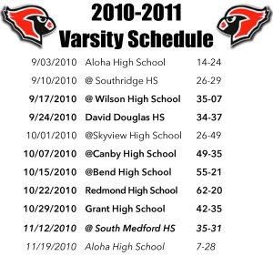 Lincoln Cardinals Varsity Schedule.