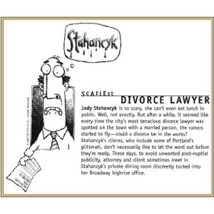 Willamette Week calls Jody Portland's Scariest Divorce Attorney Scariest Divorce Attorney