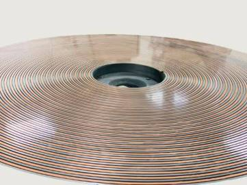Spiral Groove Plate Cooper and steel