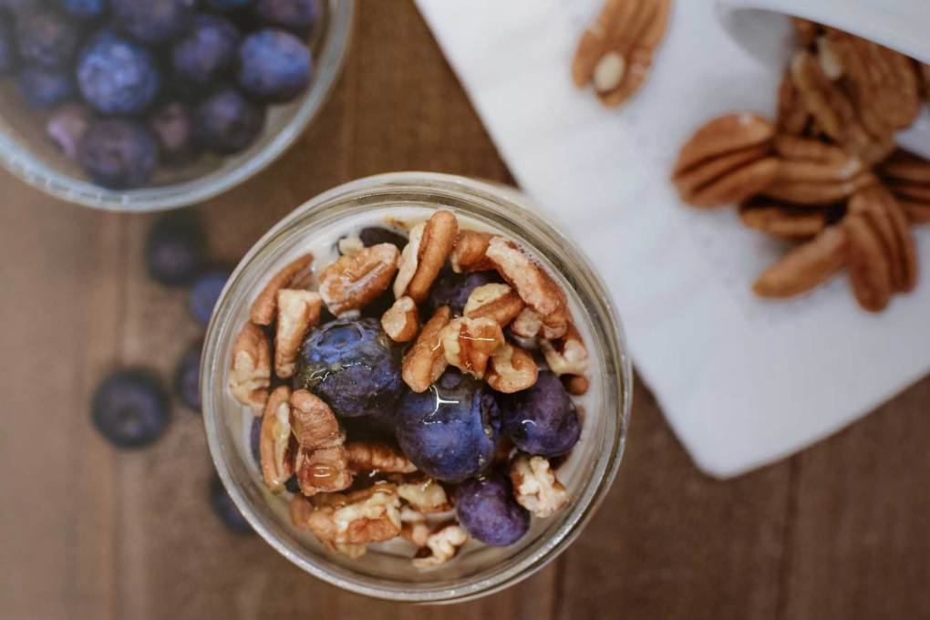 Overnight oats with pecans