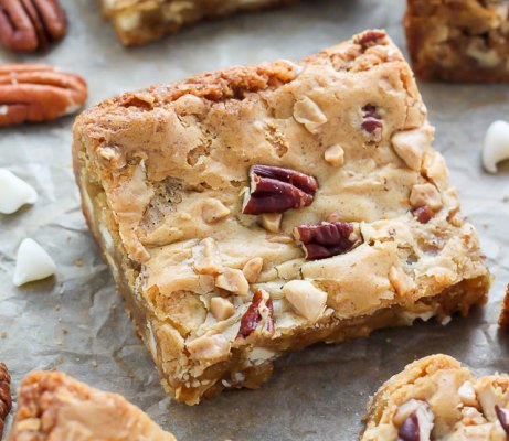 White Chocolate Butter Pecan Blondies