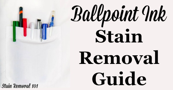 Removing stain from clothes