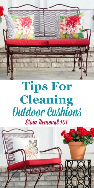 how to clean outdoor cushions patio furniture Tips For Cleaning Outdoor Furniture