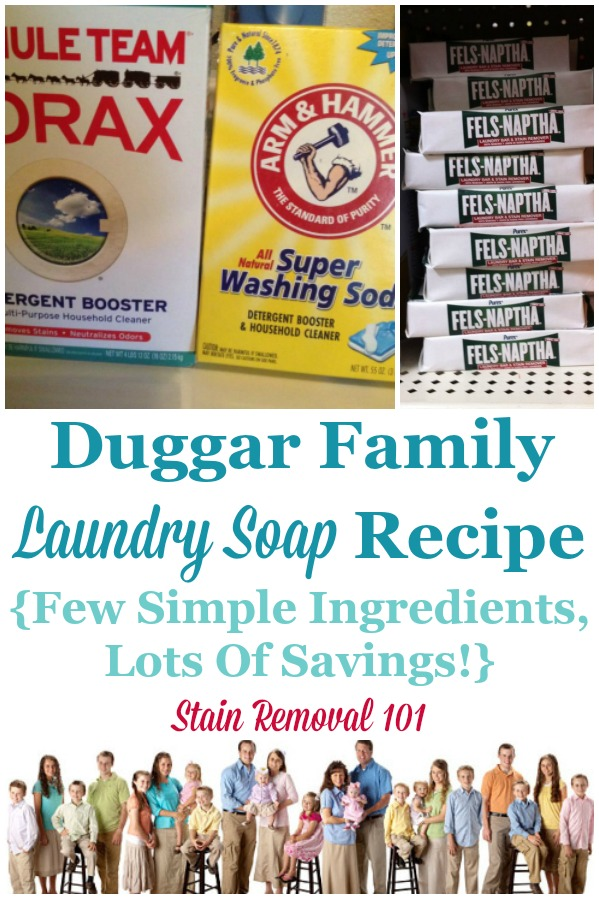 Duggar Laundry Soap Recipe