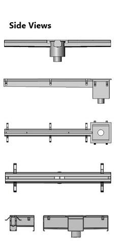 industrial stainless steel slot drains