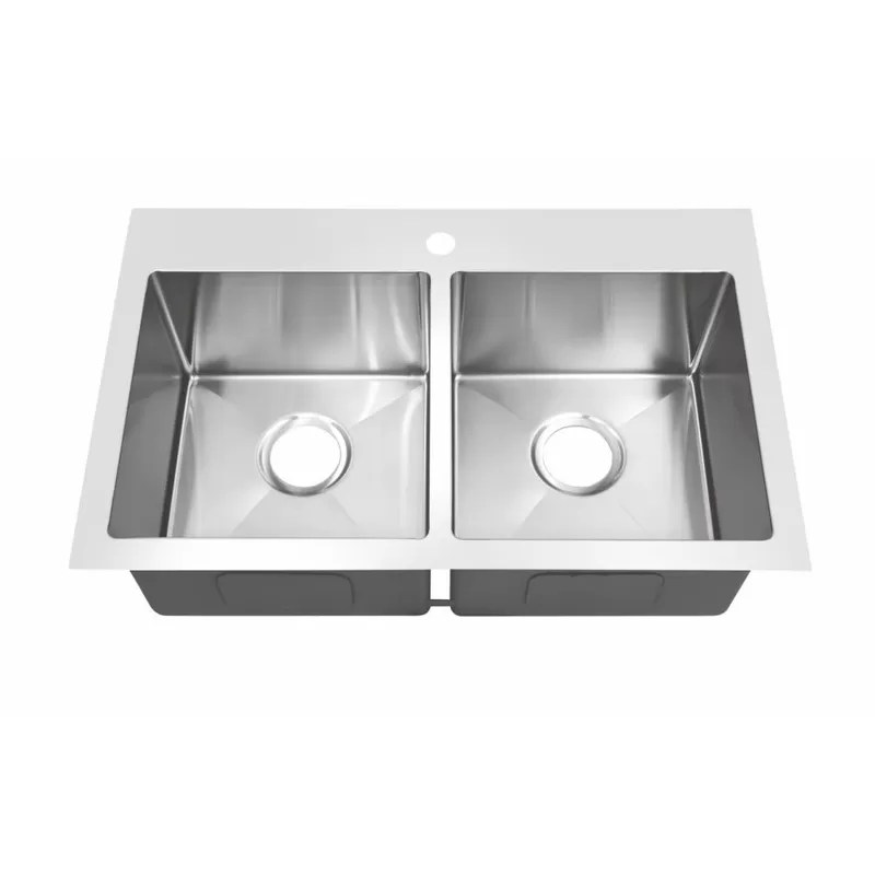 rectangular top mount kitchen sink high end stainless steel sinks with faucet