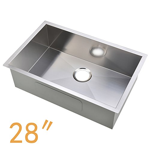 Ufaucet Commercial 16 Gauge Handmade Drop In 28u2033 Stainless Steel Kitchen  Sink, Single Bowl Kitchen Sinks Scratch And Stain Resistant Commercial Grade  Satin ...