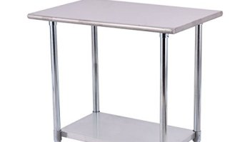Goplus Stainless Steel Work Table Prep Work Table for Commercial ...