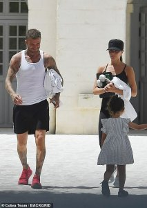 PICTURE EXCLUSIVE: David and Victoria Beckham FINALLY jet off on a post-lockdown trip with the kids
