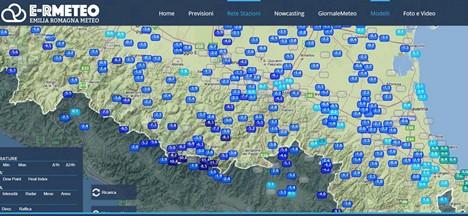 snowflakes in the Marche, Abruzzo and down to Puglia -