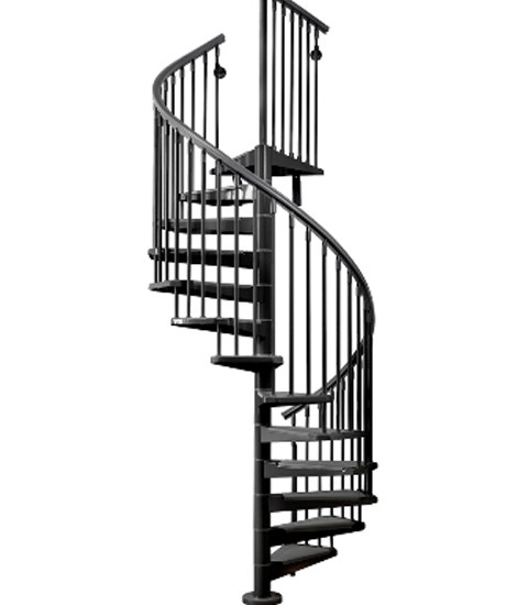 Exterior – Eureka Stairs – Modular Stairs | Outdoor Spiral Staircase Cost
