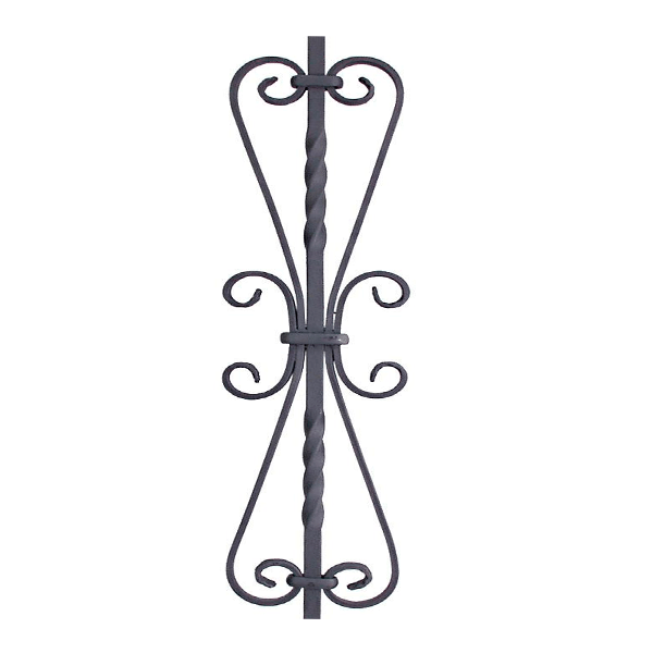 Solid Double Scroll Iron Baluster