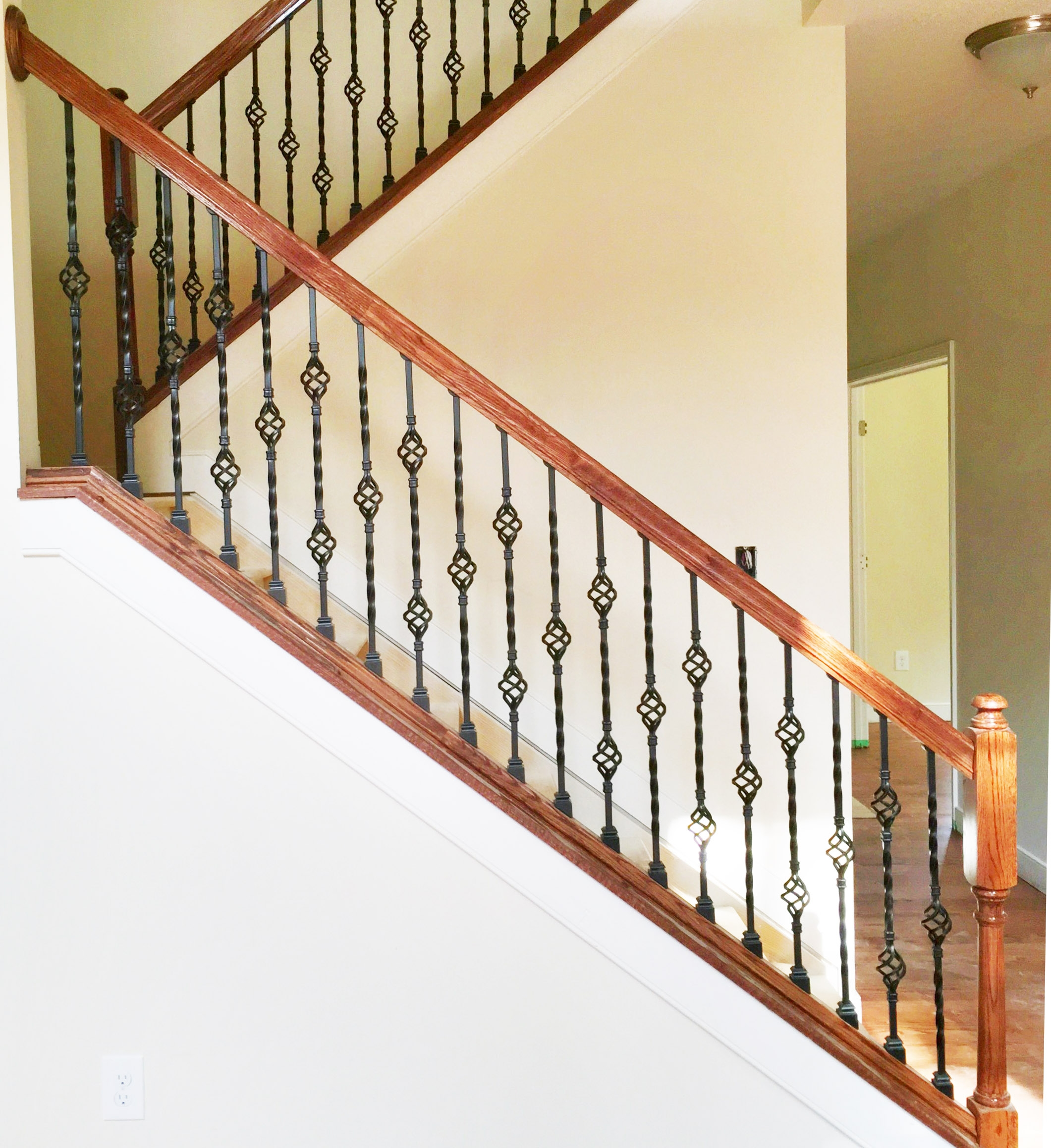 Blog Stair Parts Depot | Iron And Wood Staircase | Traditional | Spiral | White | Internal | Cherry Wood