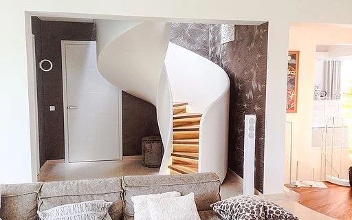 Design Stairs In Glass Wood Steel And Corian By Siller Siller   Ladder Design For Home   Decor   Space Saving   Room   Tiny House   Italian