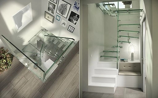 Design Stairs In Glass Wood Steel And Corian By Siller Siller   Ladder Design In Home   Unusual   Spiral   Steel   Iron   Easy