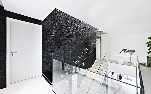 Glass Stairs Siller Stairs | Steps Side Wall Designs | Bedroom | Small House | Marble | Dining Room | Wall Highlight