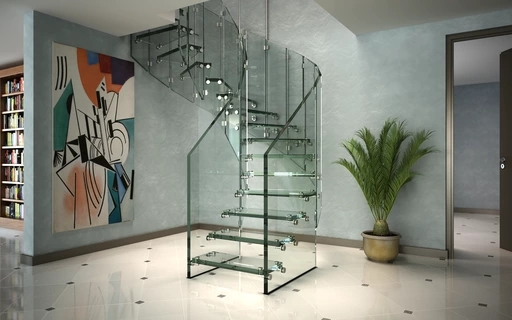 Design Stairs In Glass Wood Steel And Corian By Siller Siller   Steel Ladder Design For Home   Beautiful   Interior   Custom   Steel Staircase   Loft Ladder