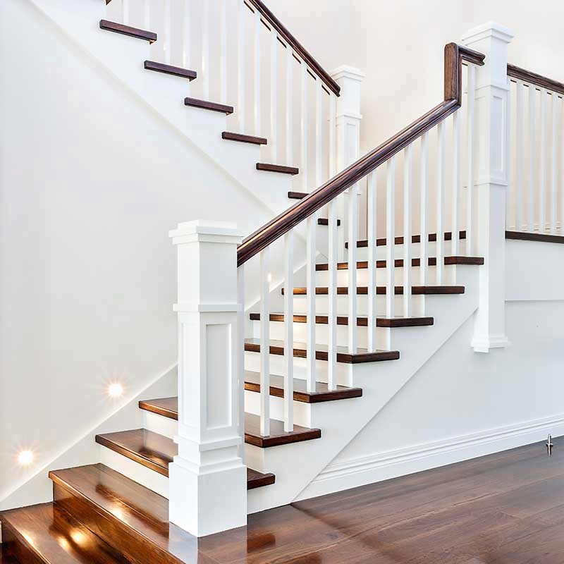 A Craftsman Style Stair Remodel Done Right Stairsupplies™ | Mission Style Hand Railings | Indoor | Bungalow | Front Porch | Art Craft | Hand