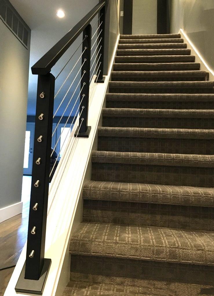 Metal Handrail 1 X 2 Stairsupplies™   Interior Metal Stair Railing   Rustic   Cool   Exterior Irregular Stair   Stair Bannister   Dark Wood