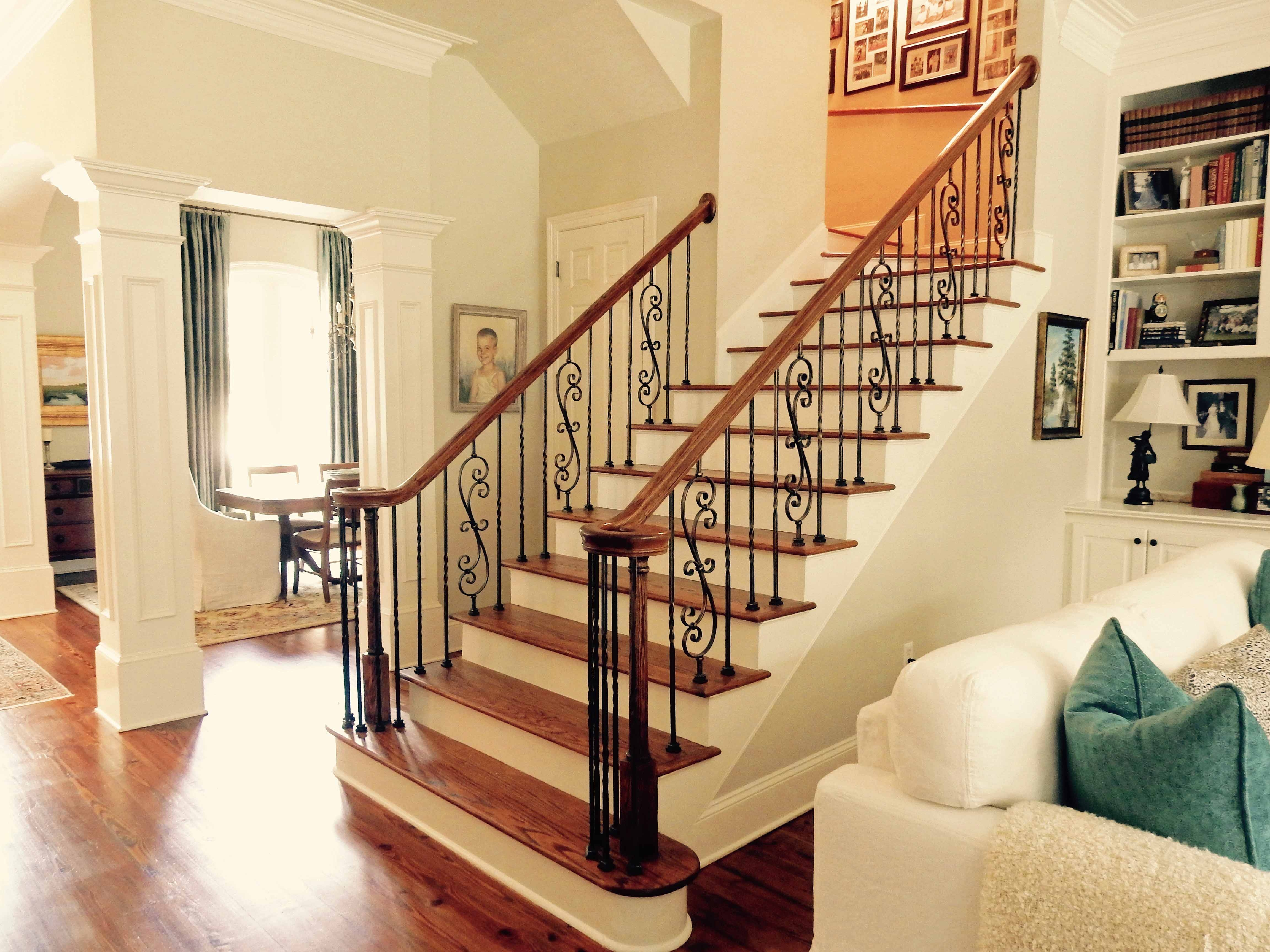Purchasing New Iron Balusters 6 Essential Steps | Wood Handrail With Iron Balusters | Ash Gray | Ole Iron | Upstairs | Wrought Iron | Low Profile