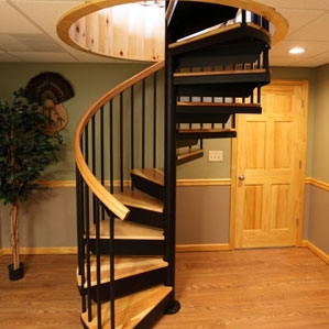 Spiral Stairs Spiral Staircases For Sale The Stairway Shop | Spiral Staircase Wooden Steps | 2 Floor | Traditional | Enclosed | Kid Friendly | Solid