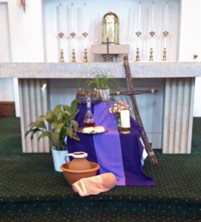 Catholic Wedding Altar Decorations: St. Alban's Catholic Church