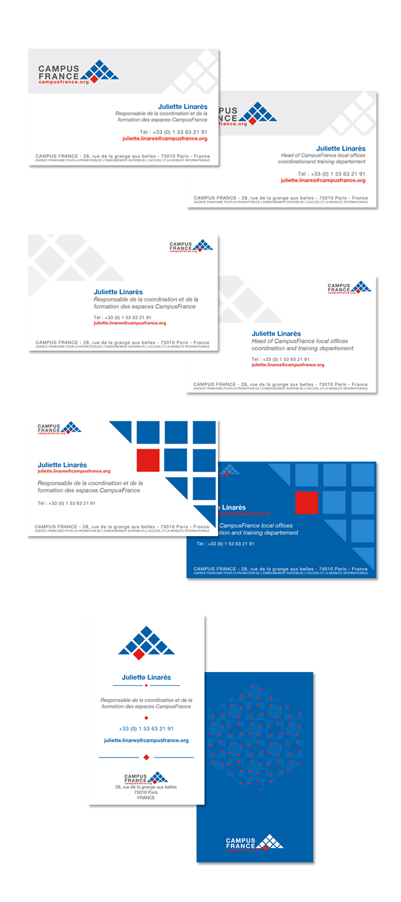 Client Campus France Travail Ralis Cration De Cartes Visite Logiciel Utilis Illustrator Photoshop