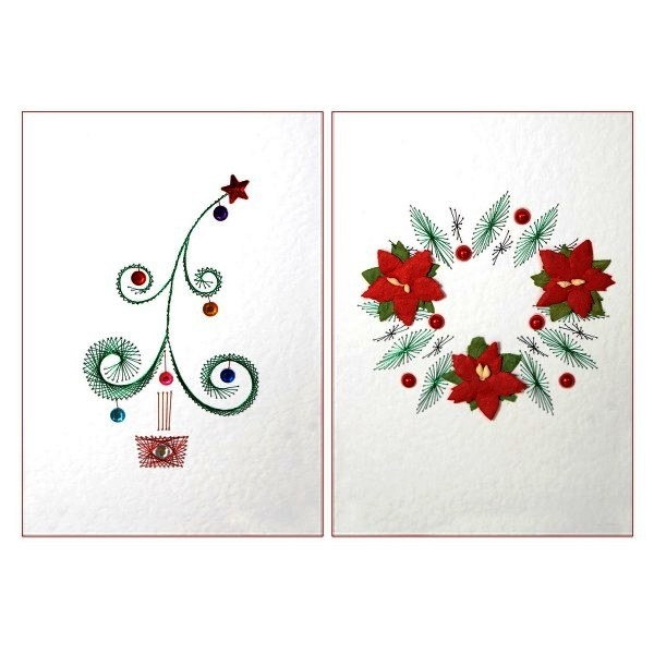Christmas Sparkle Stitch Paper Embroidery Card Kit 2772