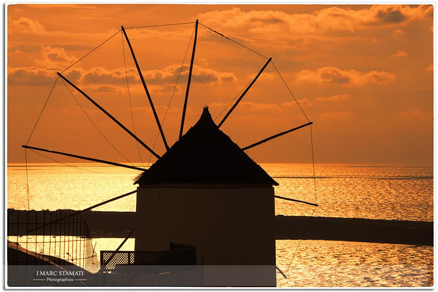 coucher de soleil oia santorin photographe professionnel Avignon