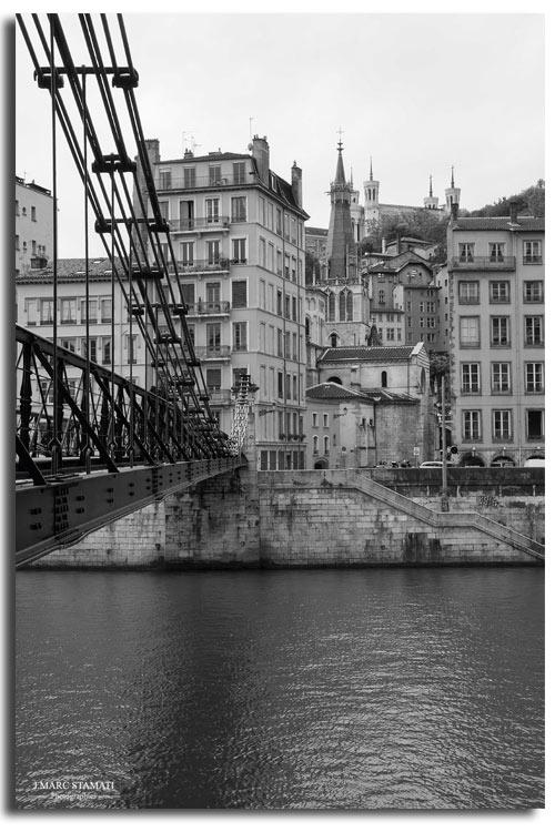 photographe Lyon noir et blanc. Entre Saône et Rhône