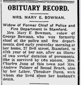 Mary Bowman's Obituary