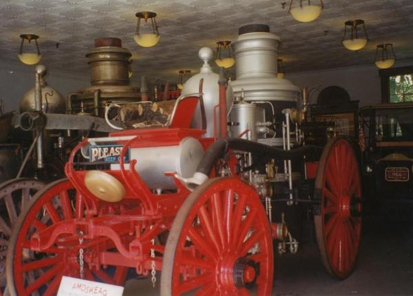Amoskeag Steam Fire Engine at Clarks Trading Posts in Lincoln, NH