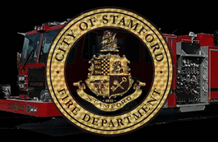 Stamford First Responders Pay Tribute to the Healthcare Workers of The Stamford Hospital.