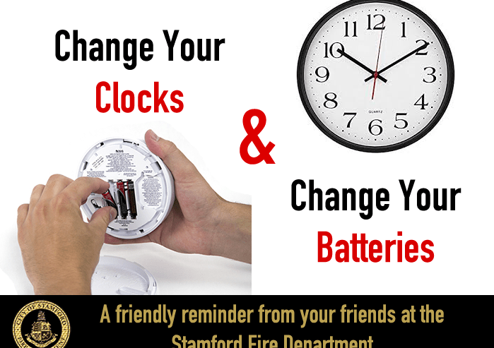 Its Time To Change Your Clocks & Change Your Smoke Detector Batteries
