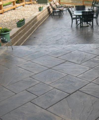 stamped concrete patio concrete