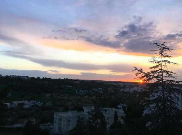 Locortondo, il panorama sulla Valle d'Itria dalla Villa Comunale