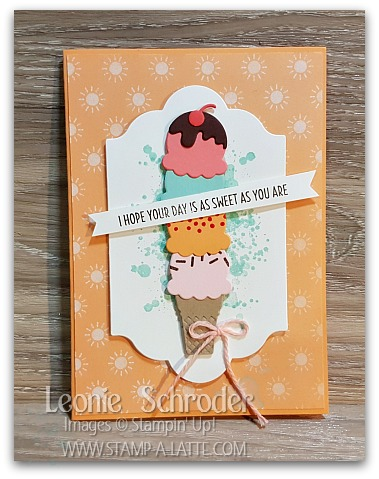 Sweet Card using Cool Treats Bundle from Stampin Up - Leonie Schroder Independent Stampin Up Demonstrator Australia