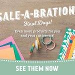 Saleabration Final Days - Shop Now with Leonie Schroder Independent Stampin Up Demonstrator Australia