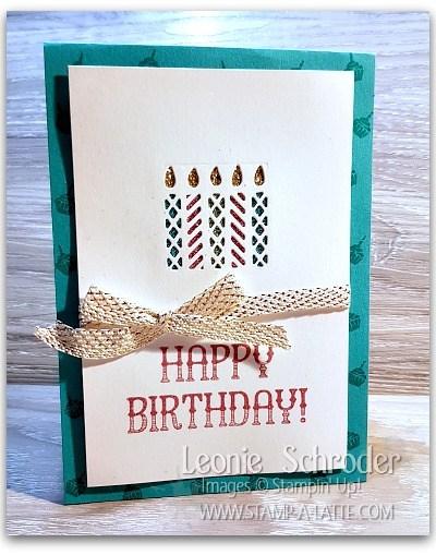 Happy Birthday Glimmer Candles Leonie Schroder Independent Stampin' Up! Demonstrator Australia