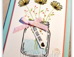 Jar of Delightful Daisies by Leonie Schroder Independent Stampin' Up! Demonstrator Australia