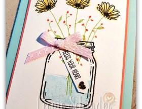 Jar of Delightful Daisies by Leonie Schroder Independent Stampin' Up! Demonstrator Australia