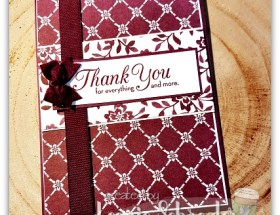 Fresh Florals Thank You Card by Leonie Schroder Independent Stampin Up Demonstrator Australia